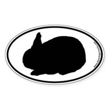 Rabbit SILHOUETTE Oval Decal
