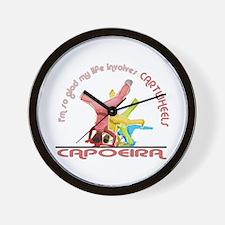 Capoeira Cartwheels Wall Clock