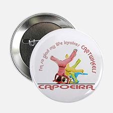 """Capoeira Cartwheels 2.25"""" Button"""