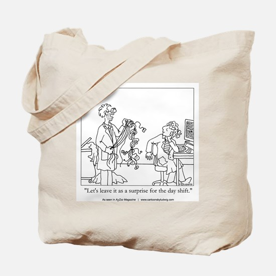 Sleep Surprise Tote Bag