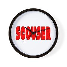Scouser in Red w/ Black Wall Clock