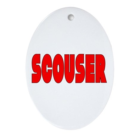 Scouser in Red w/ Black Oval Ornament
