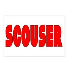 Scouser in Red w/ Black Postcards (Package of 8)