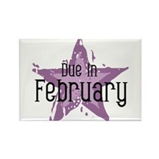 Purple Star Due In February Rectangle Magnet