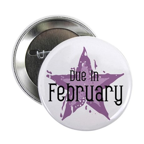 "Purple Star Due In February 2.25"" Button (10 pack)"