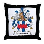 Haumesser Family Crest Throw Pillow