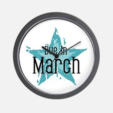 Blue Star Due In March Wall Clock