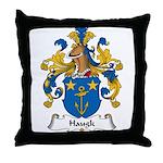 Haugk Family Crest Throw Pillow
