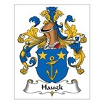Haugk Family Crest Small Poster