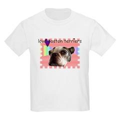 LOVE MY BOSTON TERRIER Kids T-Shirt