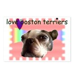 LOVE MY BOSTON TERRIER Postcards (Package of 8)