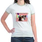 LOVE MY BOSTON TERRIER Jr. Ringer T-Shirt
