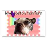 LOVE MY BOSTON TERRIER Rectangle Sticker