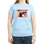 LOVE MY BOSTON TERRIER Women's Pink T-Shirt