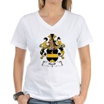 Hauff Family Crest Women's V-Neck T-Shirt