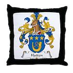 Hatten Family Crest Throw Pillow