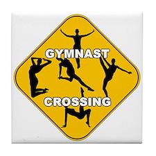 Gymnast Crossing Tile Coaster