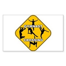 Gymnast Crossing Rectangle Decal