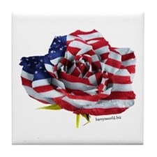 American Rose Tile Coaster