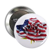 """American Rose 2.25"""" Button (10 pack)"""