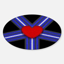 LEATHER PRIDE FLAG HARNESS Oval Sticker (10 pk)