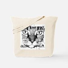 Cute Tiger cat black white kitten graphic smillakatz Tote Bag
