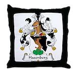 Hasenberg Family Crest Throw Pillow