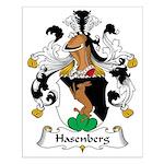 Hasenberg Family Crest Small Poster