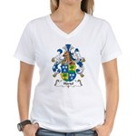 Hartel Family Crest Women's V-Neck T-Shirt