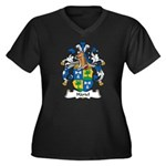 Hartel Family Crest Women's Plus Size V-Neck Dark