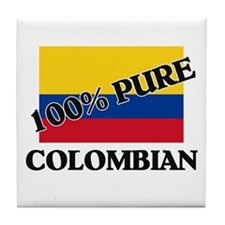 100 Percent COLOMBIAN Tile Coaster