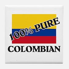 100 Percent COLOMBIAN Tile Coaster