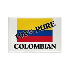 100 Percent COLOMBIAN Rectangle Magnet