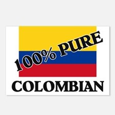 100 Percent COLOMBIAN Postcards (Package of 8)