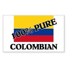 100 Percent COLOMBIAN Rectangle Decal