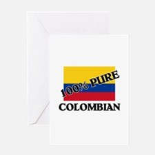 100 Percent COLOMBIAN Greeting Card