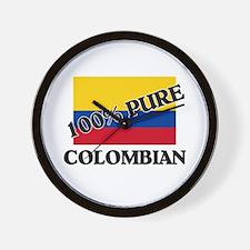100 Percent COLOMBIAN Wall Clock