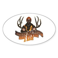 Nothing beats your head betwe Oval Decal