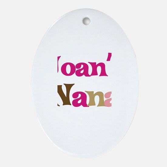 Joan's Nana Oval Ornament