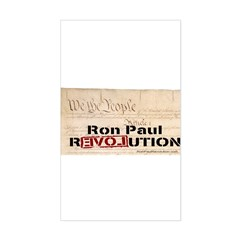 Ron Paul Preamble-C Rectangle Decal