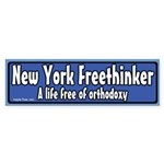 New York Freethinker Bumper Sticker
