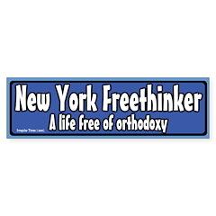 New York Freethinker Bumper Sticker