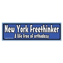 New York Freethinker Bumper Bumper Sticker