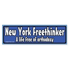 New York Freethinker Bumper Bumper Sticker