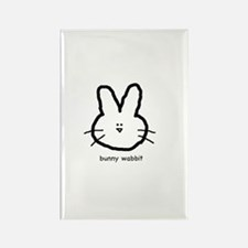 Bunny Wabbit Rectangle Magnet