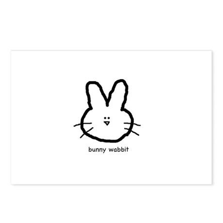 Bunny Wabbit Postcards (Package of 8)