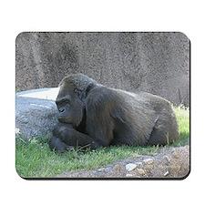 Thoughtful Gorilla Mousepad