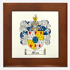 Moss Family Crest Framed Tile