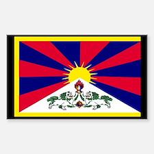 Tibetan Flag Rectangle Decal