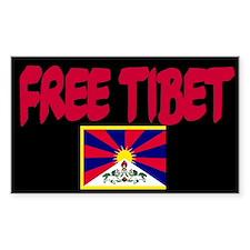 Free Tibet Flag Rectangle Decal